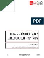 Fiscalización Tributaria y Derecho de Contribuyentes - Luis Duran