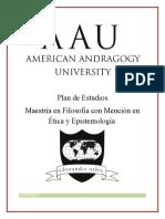 MaeAvsXeMaestria en Filosofia Con Mencion en Etica y Epistemologia