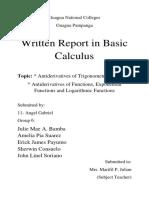 Basic Cal Written Report
