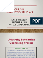university scholarship counseling process