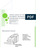Application of Geo-synthetic Materials in Geotechnical Engineering