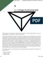 A Dragon Summoning Spell
