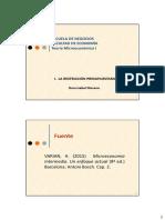 C1 La Restricción Presupuestaria - Microeconomía I