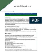 1.- Qué Son Las Normas ISO y Cuál Es Su Finalidad