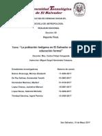 La Poblacion Indigena en El Salvador en el acceso a la Educacion Formal..pdf
