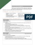 Entry Level Civil Engineer Resume PDF Downlaod