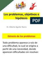 Los Problemas, Objetivos e Hipótesis