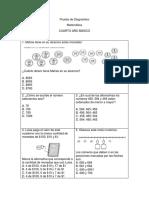 Prueba de Diagnóstico 4° matmatica.docx