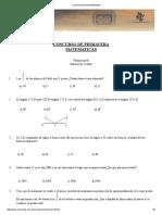 Concurso de Primavera Cotorra de Matematicas