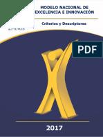Modelo Nacional de Excelencia e Innovacion Criterios y Descriptores Vf