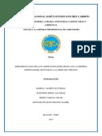 Implementacion de La Planificacion Estrategica en La Empresa Exportadora de Pitahaya Al Mercado Chileno