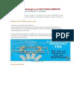 Procedimientos Quirúrgicos de FRACTURAS ABIERTAS