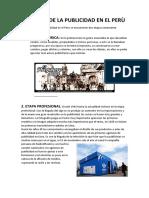 Historia de La Publicidad en El Perù
