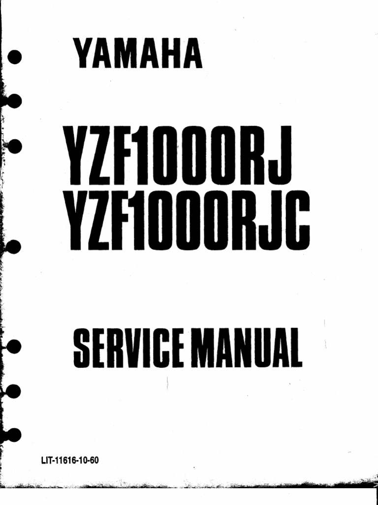 Yamaha RJC Service Manual