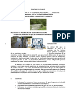 Determinación de la calidad del agua de un río