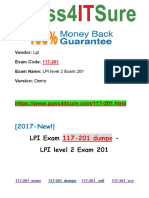New Pass4itsure Lpi 117-201 Dumps PDF - LPI level 2 Exam 201