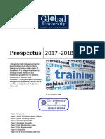 Guc Prospectus 2017 -2018