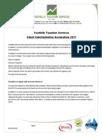 client substantiation declaration 2017