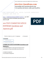 100 Top Communication Systems Questions and Answers PDF Communication Systems Questions