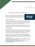Evaluación de los programas de microemprendiemiento