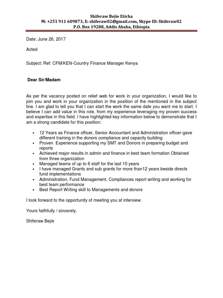Cover Letter Shiferaw Bejie Disaster Risk Reduction Psychological Resilience