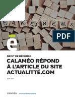 Calameo - Droit De Reponse ActuaLitté