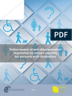 Enforcement of Anti-discrimination legislation to Ensure Equality for Persons With Disabilities