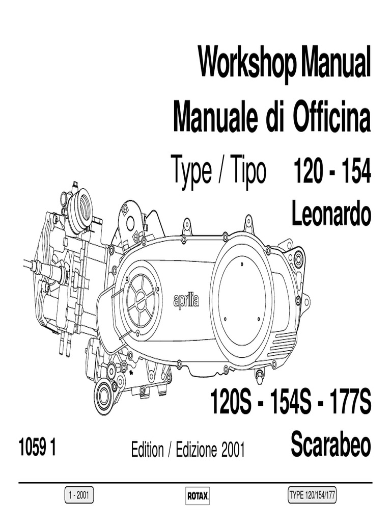 Manuale Officina scarabeo rotax