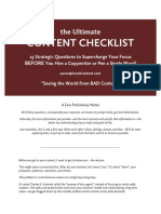 The Ultimate Content Checklist