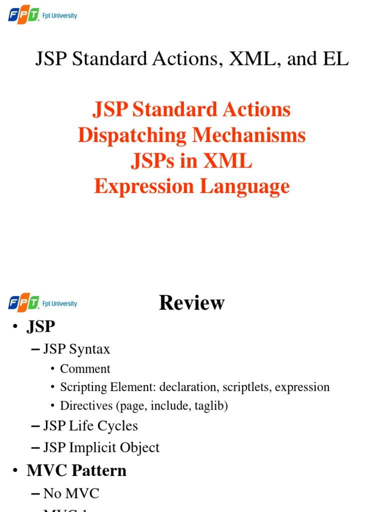 06  Standard Actions | Java Server Pages | Java Servlet