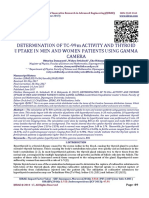 DETERMINATION OF TC-99m ACTIVITY AND THYROID UPTAKE IN MEN AND WOMEN PATIENTS USING GAMMA CAMERA