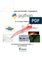 Programming and Scientific Computing in Python for Aerospace Engineers - J Hoekstra (TU Delft)