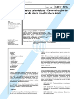 Nbr 14000 - Pastas Celulosicas - Determinacao Do Teor de Cinza Insoluvel Em Acido