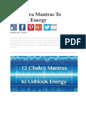 12 Chakra Mantras to Unblock Energy | Chakra | Mantra