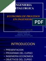 Economia de Procesos en Ingenieria