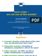 20160611 Deroose Dubrovnik Euro Crisis Are We Out of the Woods