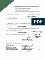 Complaint against Mordechai and Rachel Sorotzkin