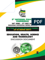 ANC National Policy Conference 2017 Discussion Document  Education, Health, Science and Technology