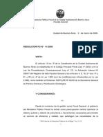 Resolucion Fg Nc2ba 041 09 Nuevo Diseno Organizacional Mpf en Materia Penal Contravencional y de Faltas