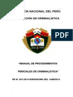 Manual de Procedimientos Periciales Criminalisitica-2012