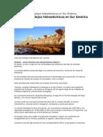 16 Complejos Hidroeléctricos en Sur América