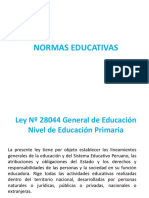 NORMAS EDUCATIVAS