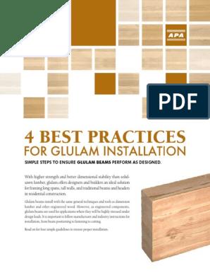 4 Best Practices for Glulam Installation   Lumber   Beam