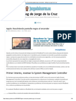 Apple_ Resolviendo Pantalla Negra Al Encender - El Blog de Jorge de La Cruz