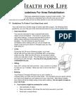 Guidelines For Knee Rehabilitation