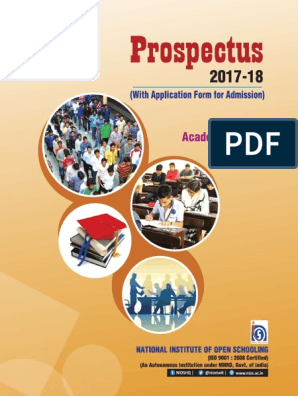 AcadProspectus 2017 18 NIOS | University And College
