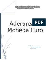 Aderarea La Moneda Euro