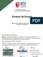 Ingenieria de Materiales Clase 7 Dureza de Materiales