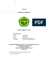 Tugas Geotek Tambang Ajrianto - Dbd 112 005