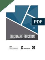 Diccionario Electoral Tomo I